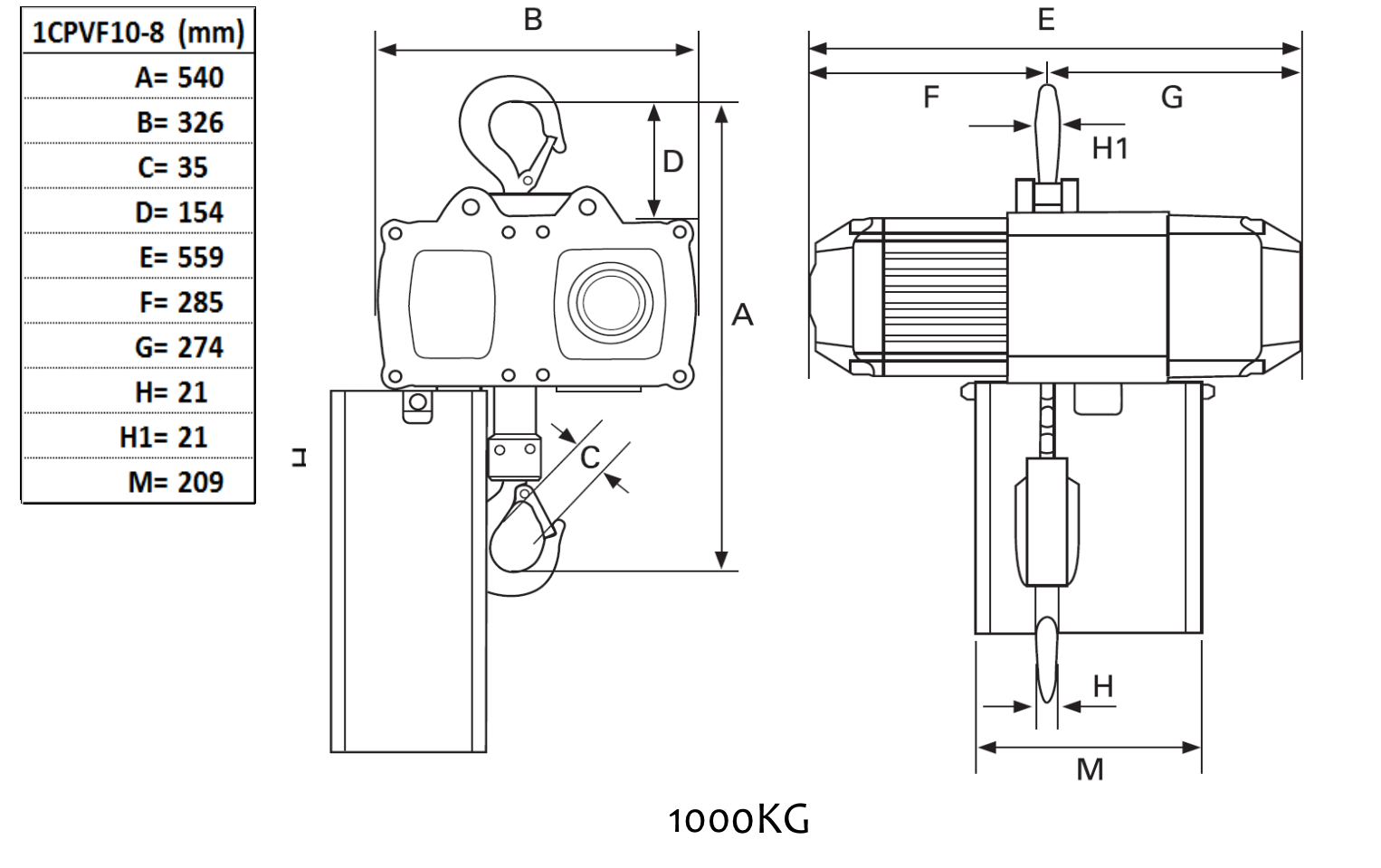 electrical chain hoist 1000kg, 8 2m min 1 p, yale lift station wiring diagrams cm hoist wiring diagrams model h #27
