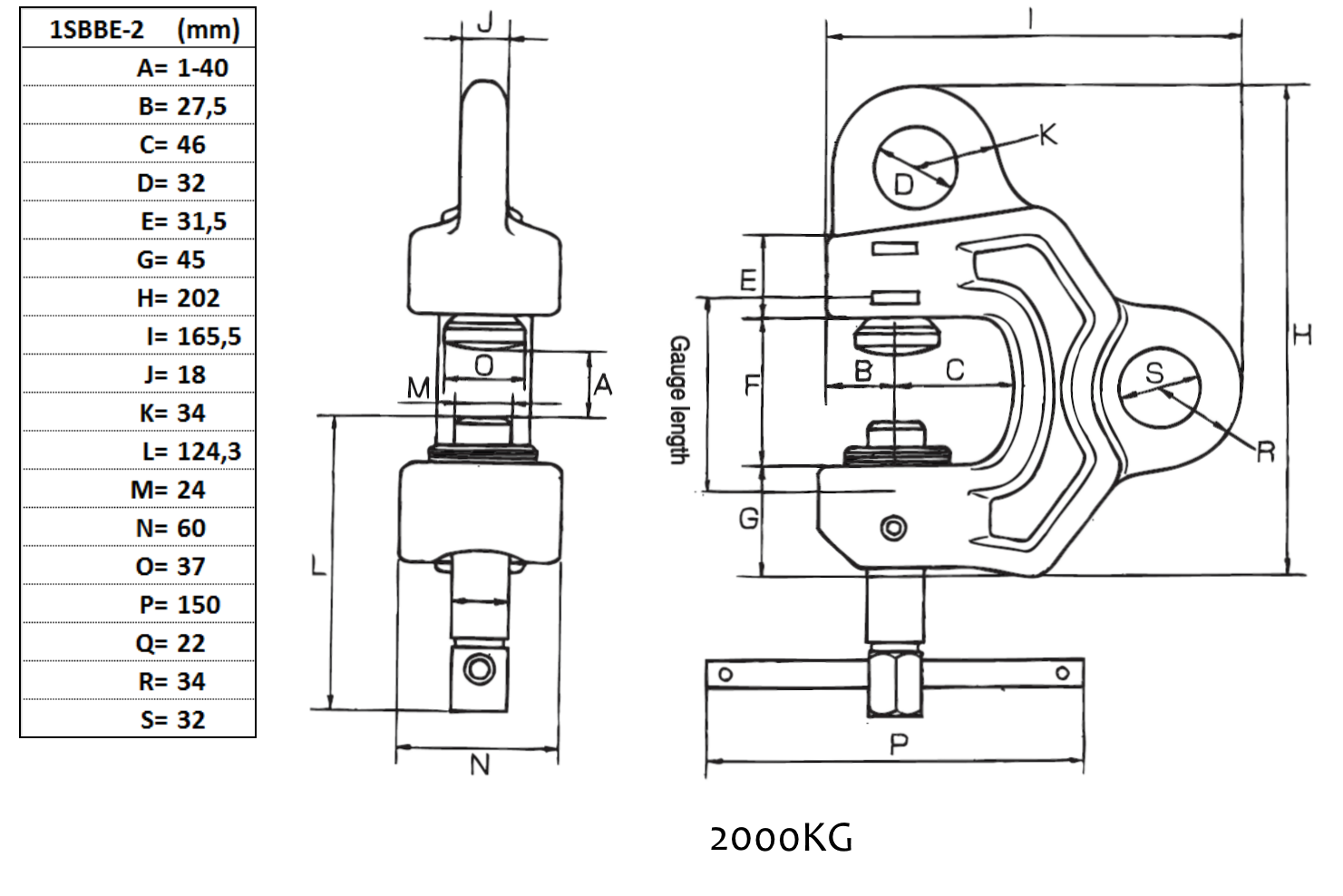 Eagle Clamp 0 40 Mm 2000 Kg 2 45 Lift Wiring Diagram